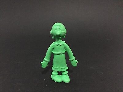 Vintage Rubber Olive Oil from Popeye 2 inch figure green