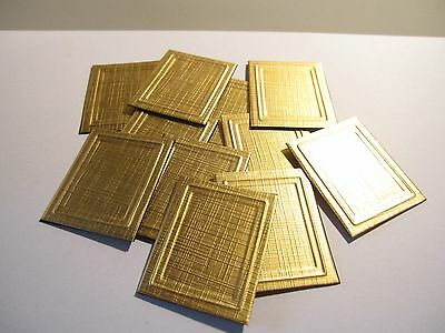 4 DOLLS HOUSE MINIATURE PICTURE FRAMES GOLD