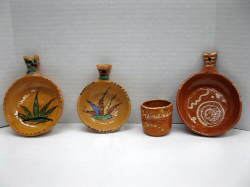 Vintage Mexican Miniature Nesting Bowls & Cup