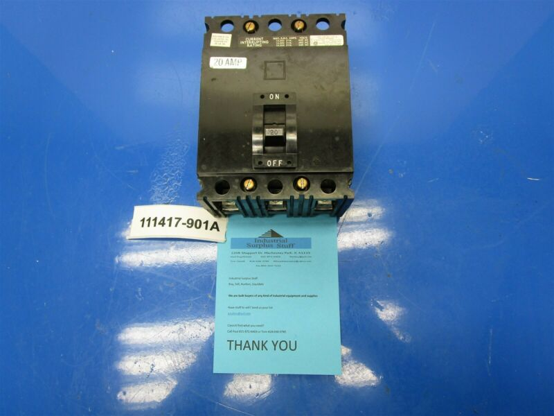 Square D FAL36020 Motor Protection Breaker Out Of New OS Model 4 MCC Buckets