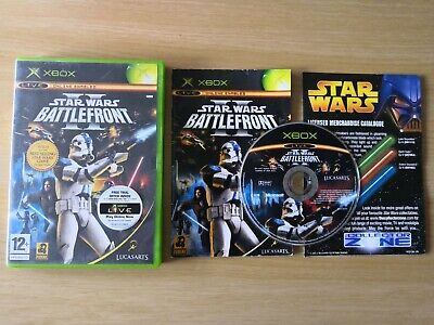 Star Wars Battlefront II (2) Xbox Original - Great Condition & Merch Catalogue