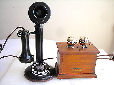 ORIGINAL WESTERN ELECTRIC 51AL ANTIQUE TELEPHONE VERY RARE LARGE SLEIGH BELLS