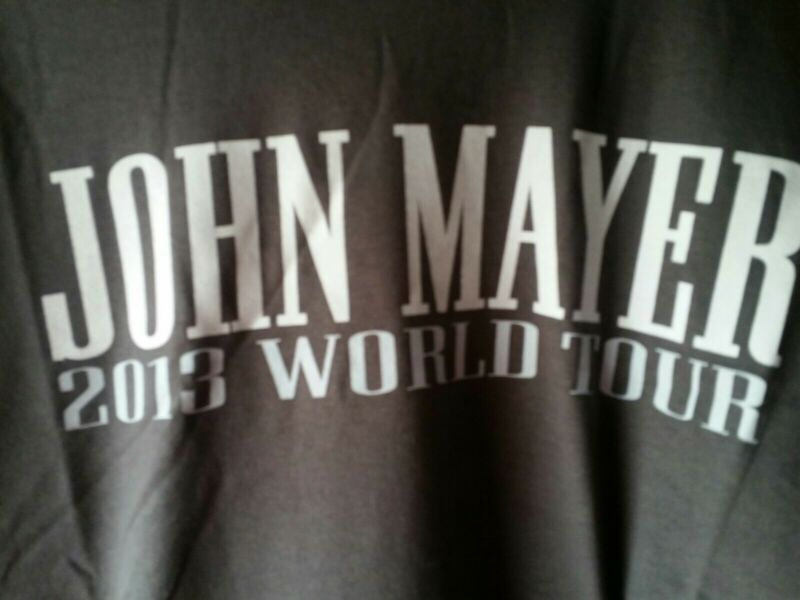 John Mayer tour T shirt 2013 ..size small