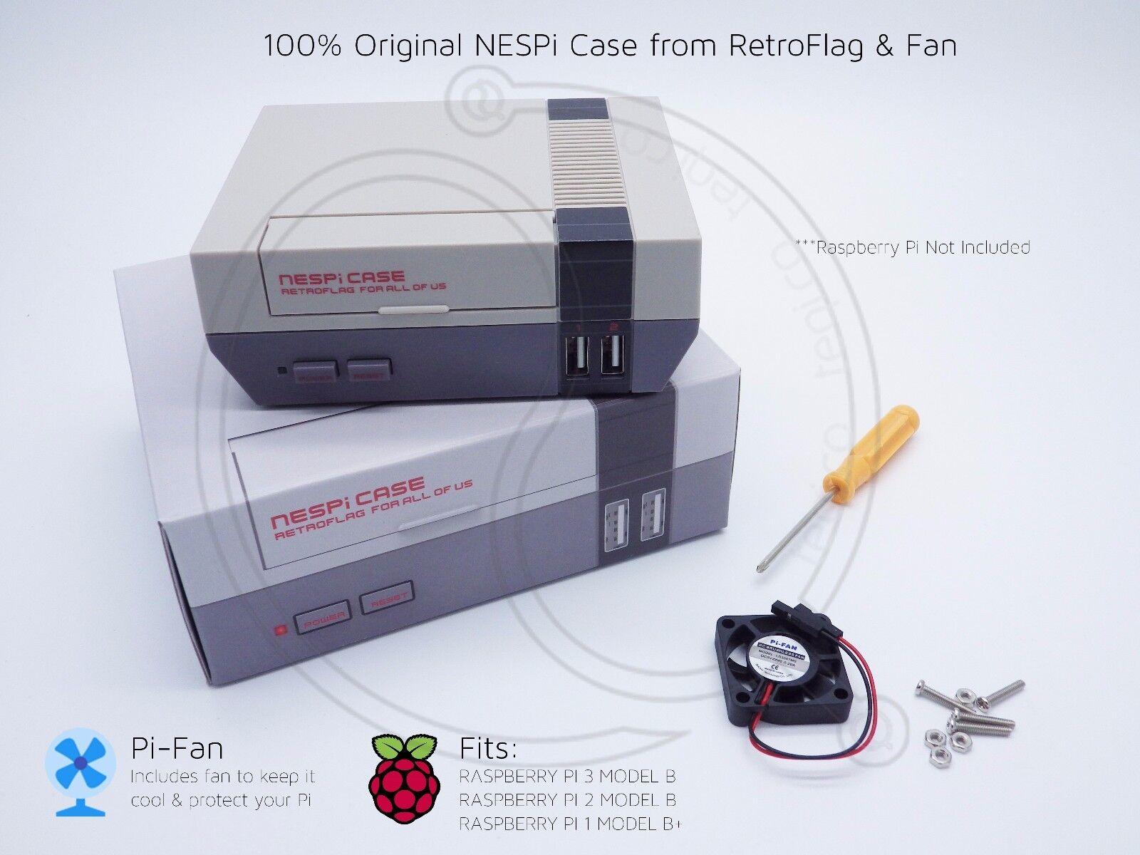 Nes Nespi Retroflag Raspberry Pi 2 3 Model B Retropie Fan Case Wiring Features 100 Originalretroflag No