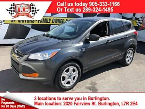 2016 Ford Escape S, Automatic, Heated Seats, Back Up Camera,