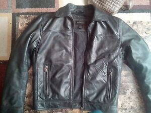 Danier black leather jacket mens with Thinsulate