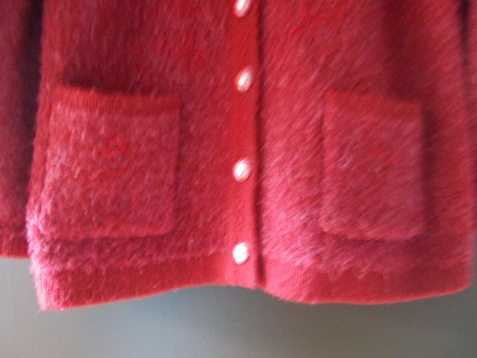 Gilet rouge foncé très chaud de marque blanch rose en bon état