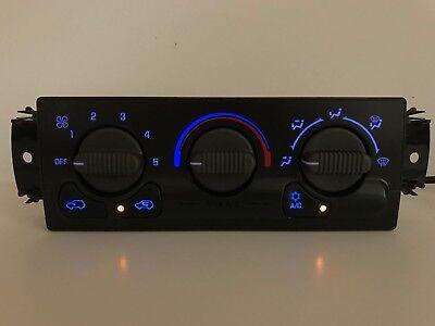00 01 02 Silverado Sierra Heater AC Climate Control BLUE LED