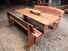 3 & 5 & 7 Piece Rustic Bush Timber Dining Settings Gin Gin Bundaberg Surrounds Preview