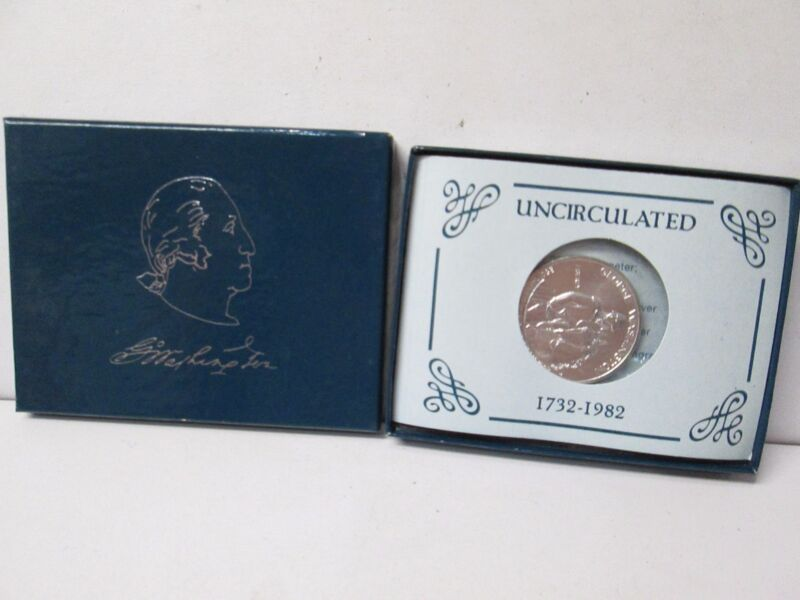 1982 George Washington Silver Uncirculated Half Dollar Commemorative Set DAM