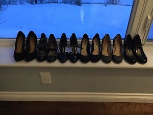 6 pairs of women's dress shoes