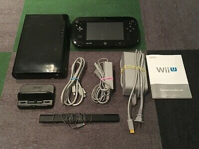 Nintendo Wii U 32gb Black WUP-101(2) / Gamepad WUP-010 (USA) TESTED / WORKS