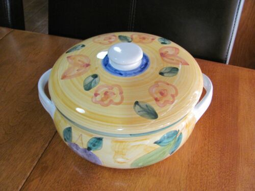 CALECA Round Covered Casserole Dish  Made in Italy