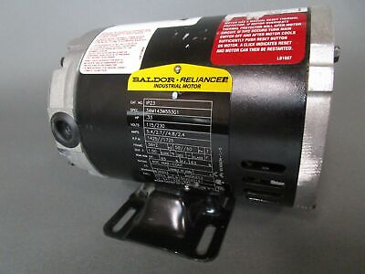 Baldor Ip23 .33hp 13 Electric Motor 115230v 5060hz 14251725 Rpm 1ph 56yz
