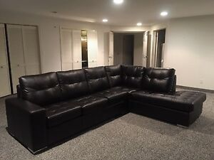 Genuine Leather L-Shaped Sofa ($6000 retail)