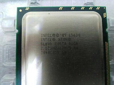 Intel Xeon L5630 @2.13 GHz (2.4GHz Turbo) 4 Cores/8 Threads 12M LGA1366 40 Watt!