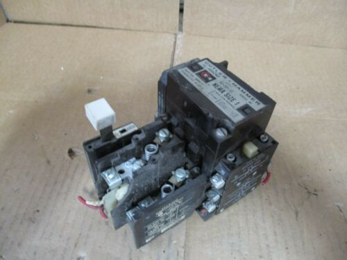 CUTLER -HAMMER MOTOR STARTER CONTACTS SIZE 1 #9131105B USED