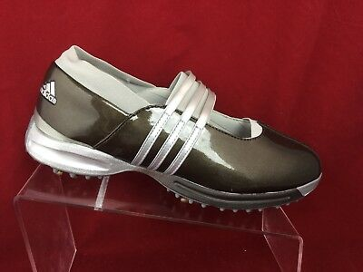 Adidas Womens Driver Lucy Bronze/Silver Golf Shoes style #737814, SZ 8.5 US