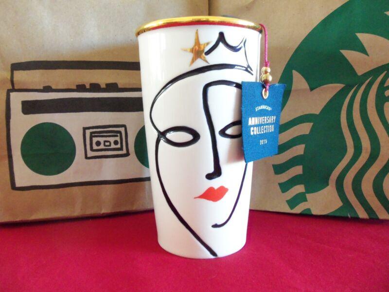 New Release 2015 Anniversary Crown Ceramic Double Wall Traveler Tumbler 10 Fl Oz