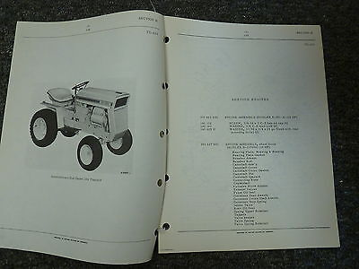 International Harvester Ih Model 104 Cub Cadet Tractor Parts Catalog Manual Book