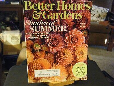 Better Homes & Gardens - Shades of Summer Cover - August (Summer 2017 Best Sunglasses)