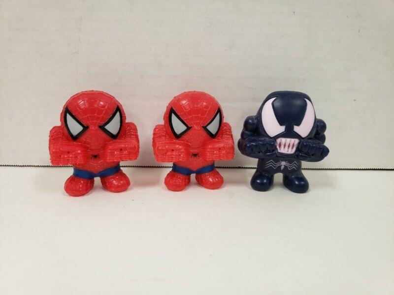 2007 General Mills Cereal Spider-Man 3 Movie Venom Squeeze Toy Marvel Lot