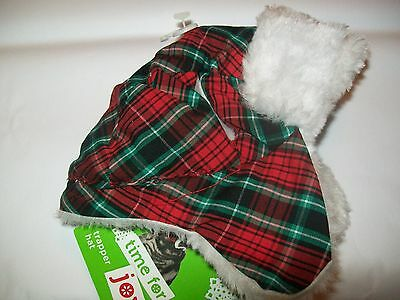 CAT TRAPPER HAT Cap (Sm Dog) Christmas Holiday petco puppy new one size bomber