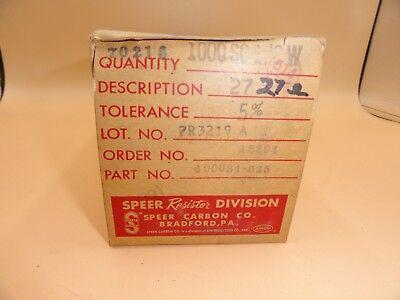 Speer - Pack Of 1000 - Resistors 27 Ohm 12 Watt
