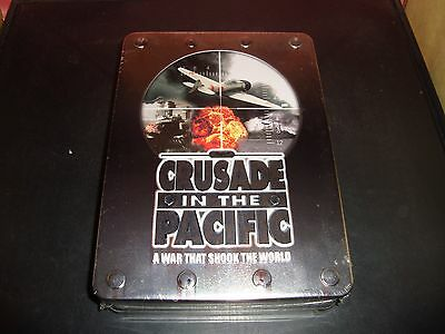 Wwii Crusade In The Pacific Set Dvd 2008 5 Disc Set Unopened New Metal Tin Mint