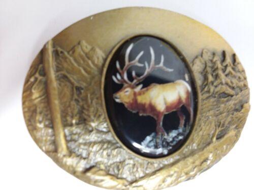 Artistic Impression ELK belt buckle designed by Julie Zsupnik,  2004
