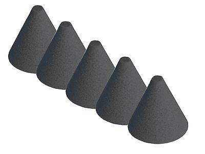 5 Stück ddt E-Drum Triggerkegel schwarz Cushion Konus cone Kegel