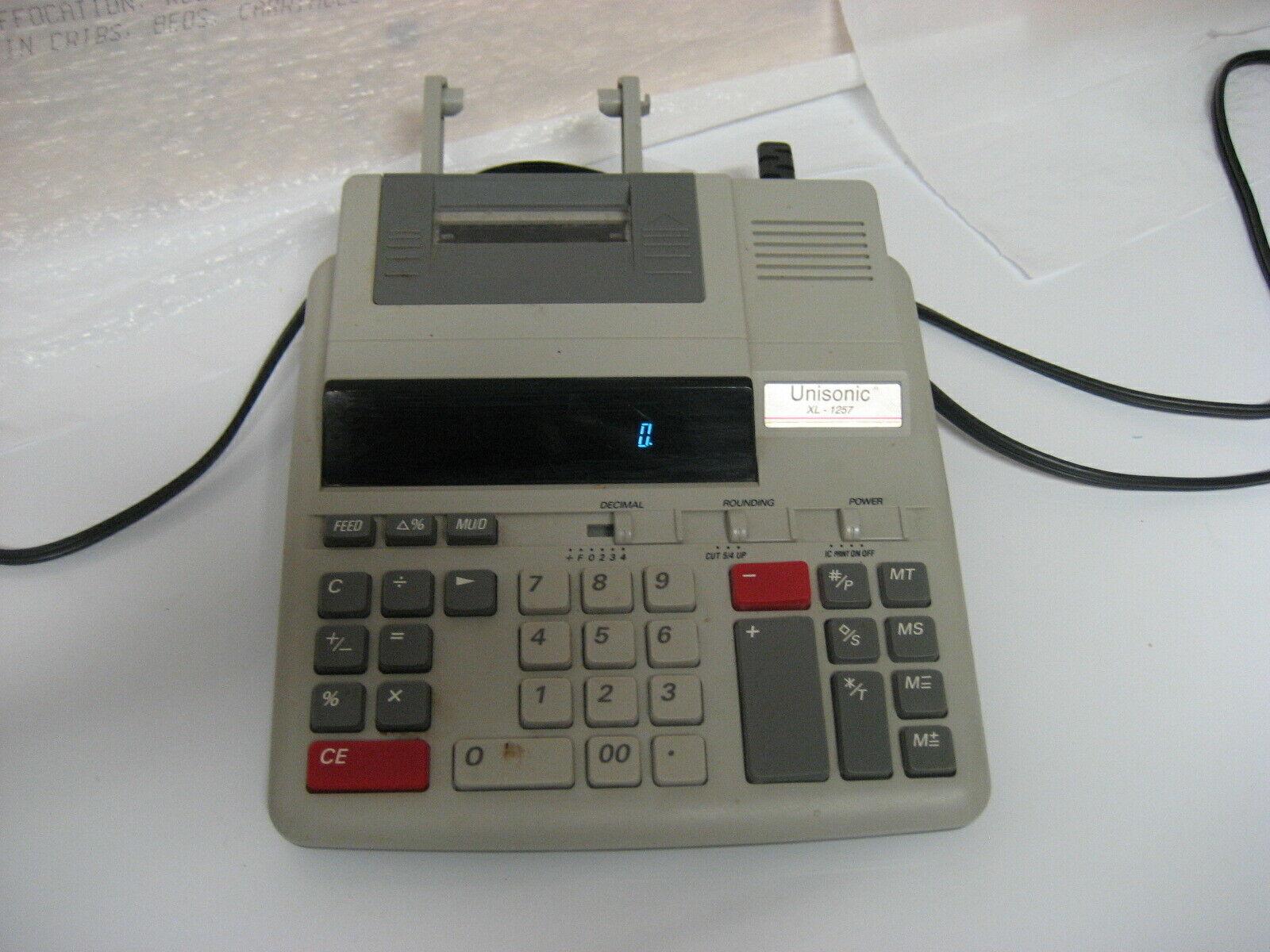 unisonic xl-1257 calculator