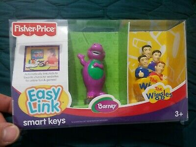FISHER-PRICE EASY LINKS SMART KEYS, THE WIGGLES & BARNEY INTERNET LAUCH PADGAMES