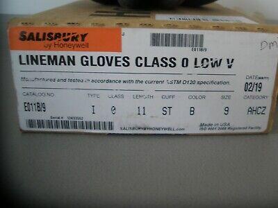 Salisbury Honeywell Lineman Gloves E011b9 Ilpg-10 Size 9-9 12