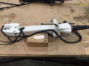 Outboard motor tiller handles