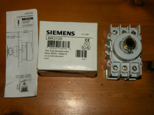 Siemens LBR3100 Disconnect Switch 3 pole Rotary 100A