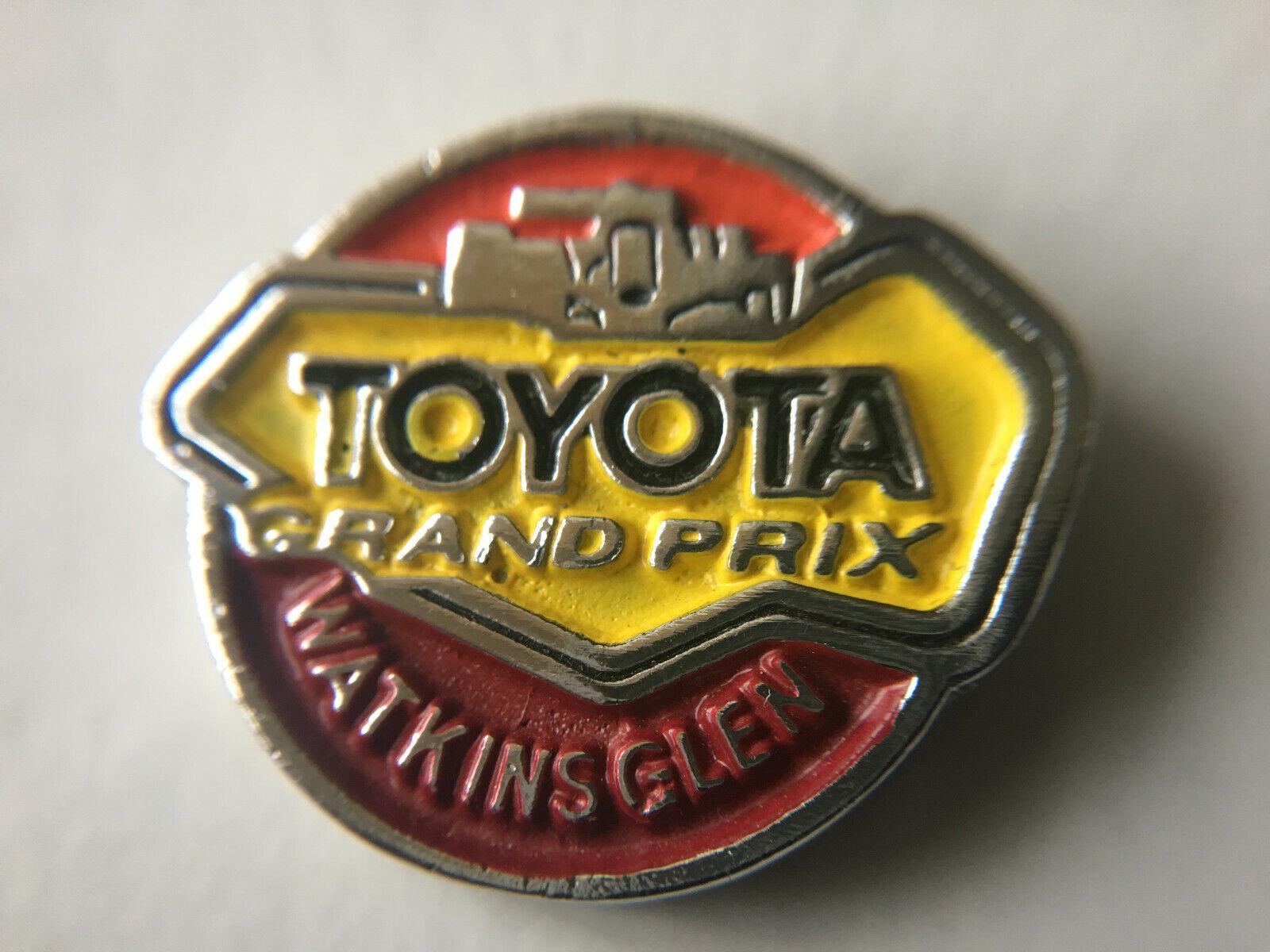 Vintage Toyota Grand Prix NY Watkins Glen Emblem Logo indy TRD Lapel Pin Rare