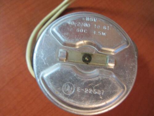 E-22587 Electric Clock Motor WB-2080 60c 4.5W - Tested Good (647E)