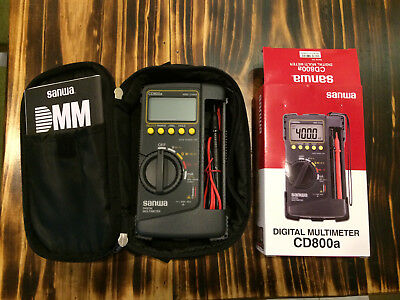 New Genuine Sanwa Digital Multimeter Cd800a Dmm With Gift Soft-case