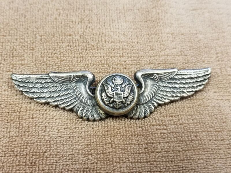 Stunning Post WW2 British Made Aircrew Wings Airforce Private Purchase Firmin