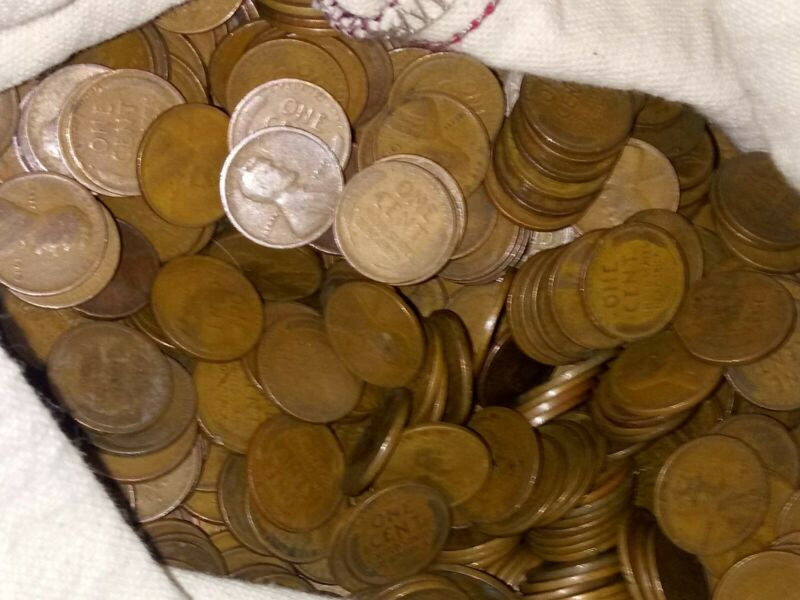 50 Wheat Pennies!  One Roll Of Teen Cents! 1909 to 1919 P D S mints