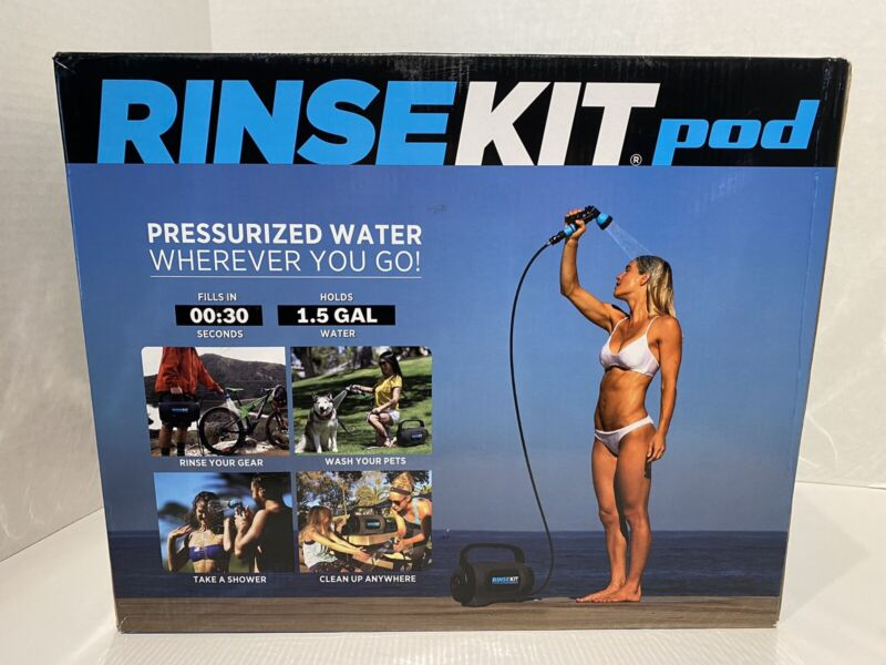 NEW Portable Pressurized Outdoor Hot/Cold Shower with 5 Spray Settings