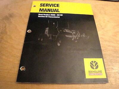 New Holland Rg80 Rg100 Road Grader Transmission Service Repair Shop Manual