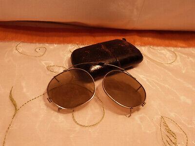 Alte antike Sonnenbrille Überbrille Aufsteckbrille ca. 1920er Jahre Oldtimer