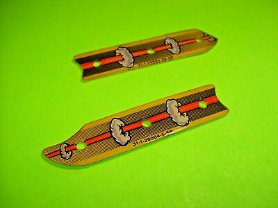 Bally PARTY ZONE Original 1991 Pinball Machine Plastic Shield Set Return Lane #7