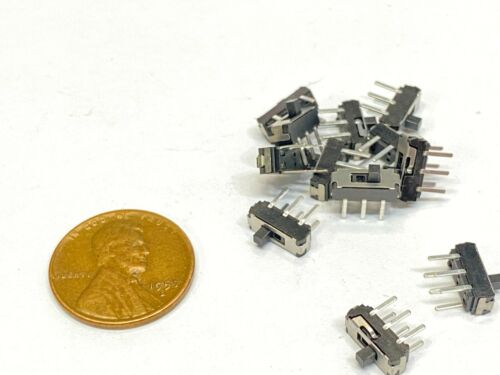 15 Pieces ON-OFF Micro Slide Switch 2 Position 6 Pin PCB Panel mss-22d18 C34