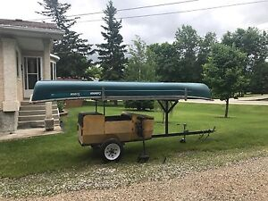SOLD SOLD SOLD       16' Canoe and trailer for sale