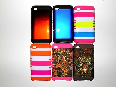 APPLE iPOD TOUCH 4TH GENERATION 2 LAYER COVER/CASE NEW Apple Ipod 4th Case