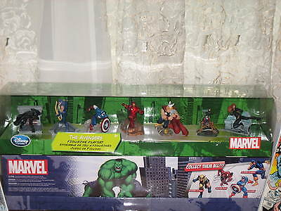 New-Marvel Disney Store Authentic-Avengers 7 Figure Playset, Cake Toppers (Marvel Cake Toppers)