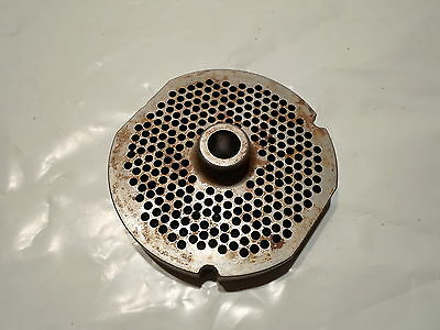 Lightly Used Kasco Meat Grinder Plate Part No. 324au 3 78 O.d. 12 Bore